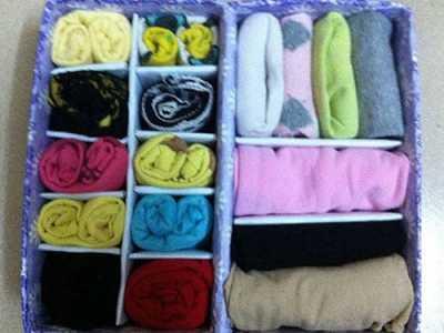 手工制作内衣收纳盒 旧纸板diy实用的内衣袜子收纳盒